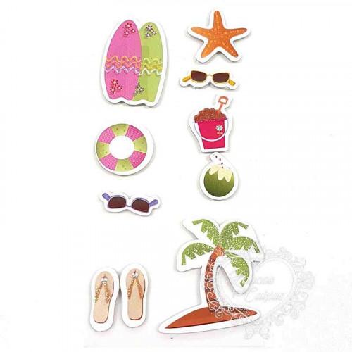 Adesivo FM com Glitter Verão