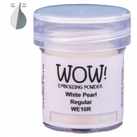 Pó Emboss - WOW! - White Pearl Regular - branco perolado