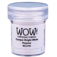 Pó Emboss - WOW! - Opaque Bright White Regular - branco