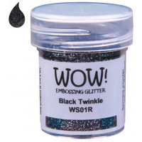 Pó Emboss - WOW! - Black Twinkle (com glitter)