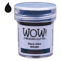 Pó Emboss Glitter - WOW! - Black Glint