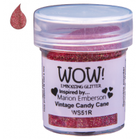 Pó Emboss com Glitter - WOW! - Vintage Candy Cane