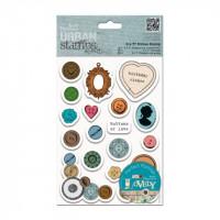 Carimbos de Borracha Rubber STAMPs - Botões mistos - Urban Stamp